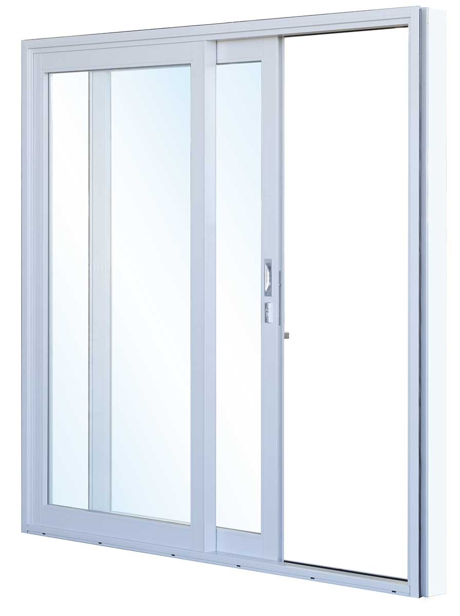 Aluminium sliding patio doors white sliding aluminum for Outside sliding glass doors